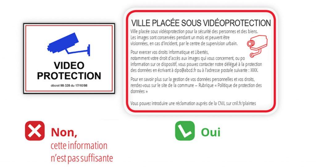 CNIL panneau vidéosurveillance