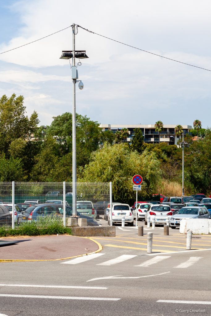 Caméra de vidéo surveillance parking Antibes Espaces