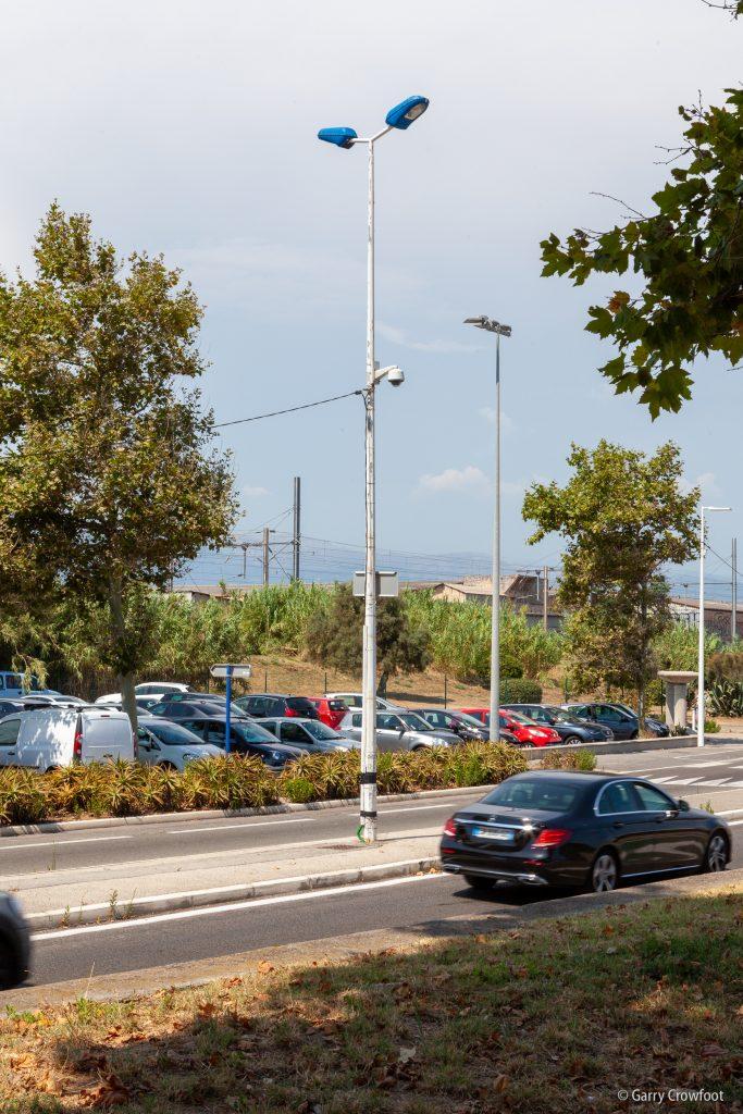 Caméra de vidéo surveillance Antibes Fort Carré parking