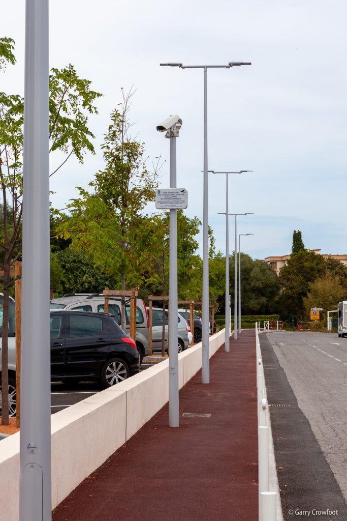 Caméra video surveillance Antibes Jules Grec parking