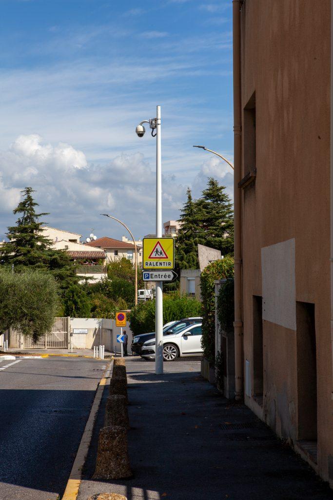 Camera video surveillance Bréguières Quatre Chemins Antibes Ecole Fontonne Conservatoire