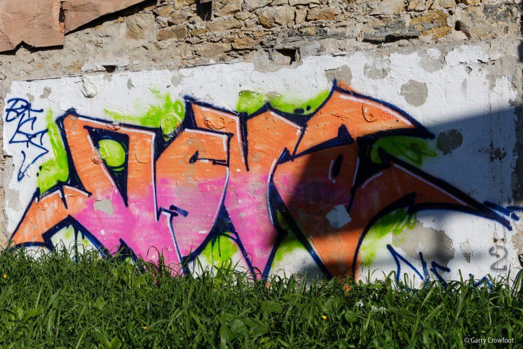 Graffiti Croix Rouge Antibes