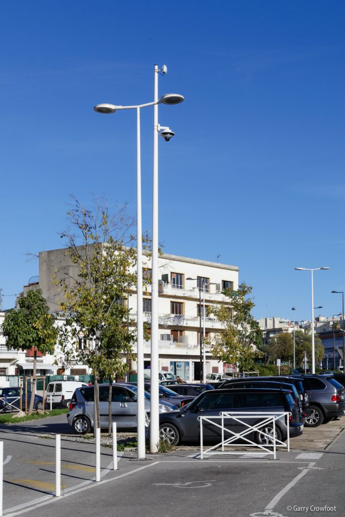 Caméra vidéo surveillance Parking Courbet Antibes Juan les Pins