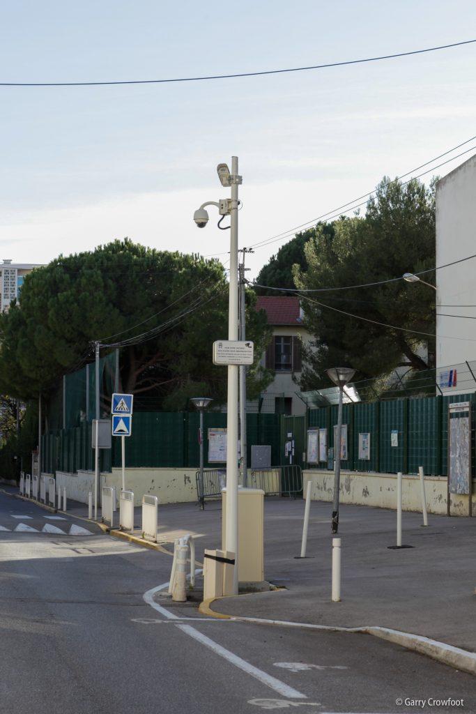 Caméra vidéo surveillance boulevard Poincaré Antibes Juan les Pins