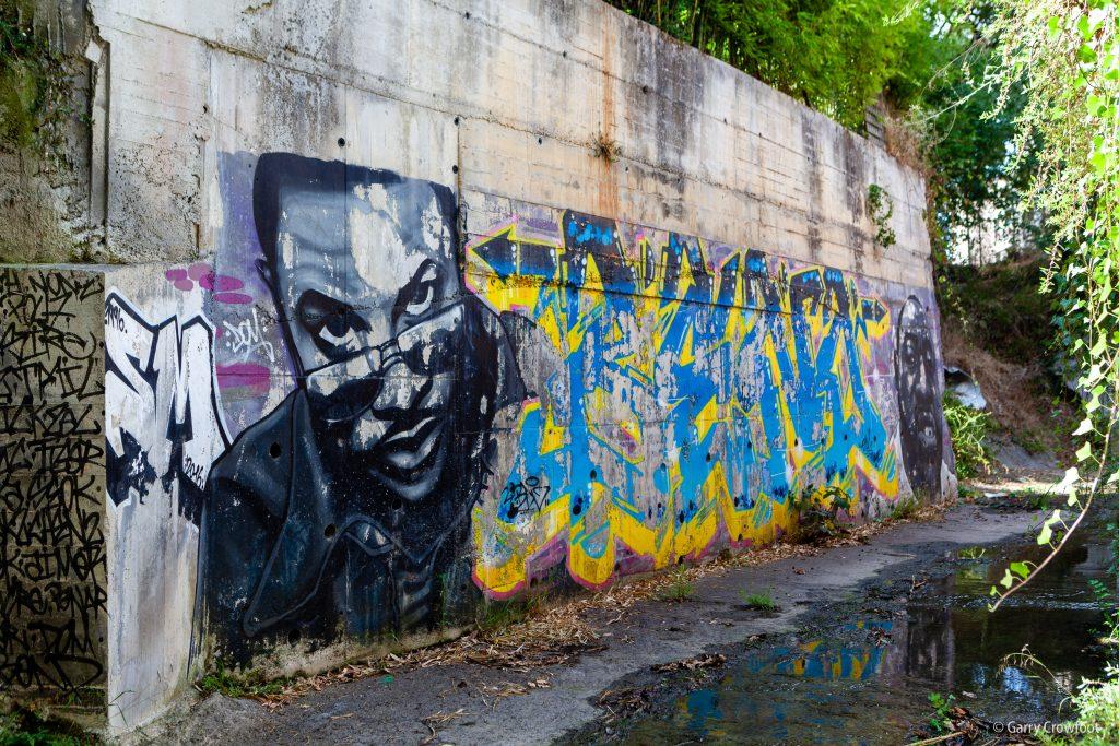 Chemin de St Claude Antibes tag graffiti 2021
