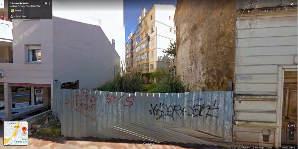 9 avenue Gambetta Antibes © Google 2011