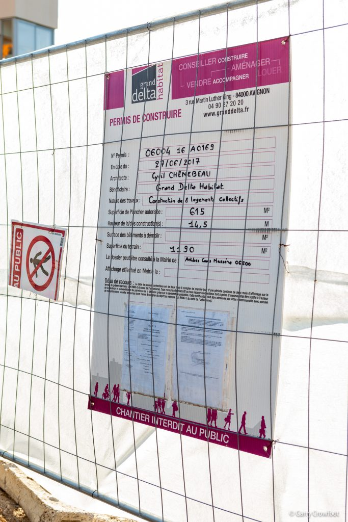 Permis Les Chataigniers avenue du Châtaignier Antibes 2020