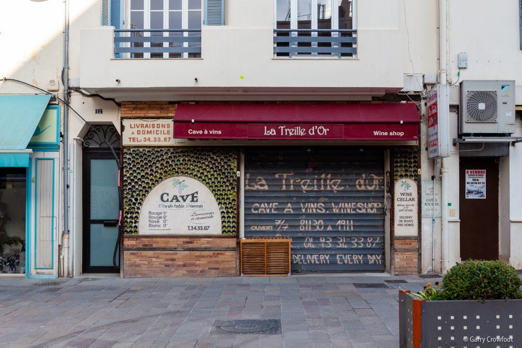 Cave à vins la Treille d'Or rue Lacan Antibes