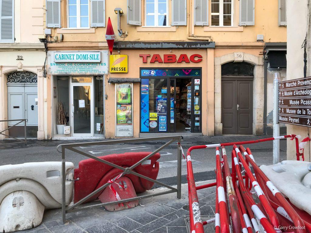 Tabac rue Aubernon Antibes