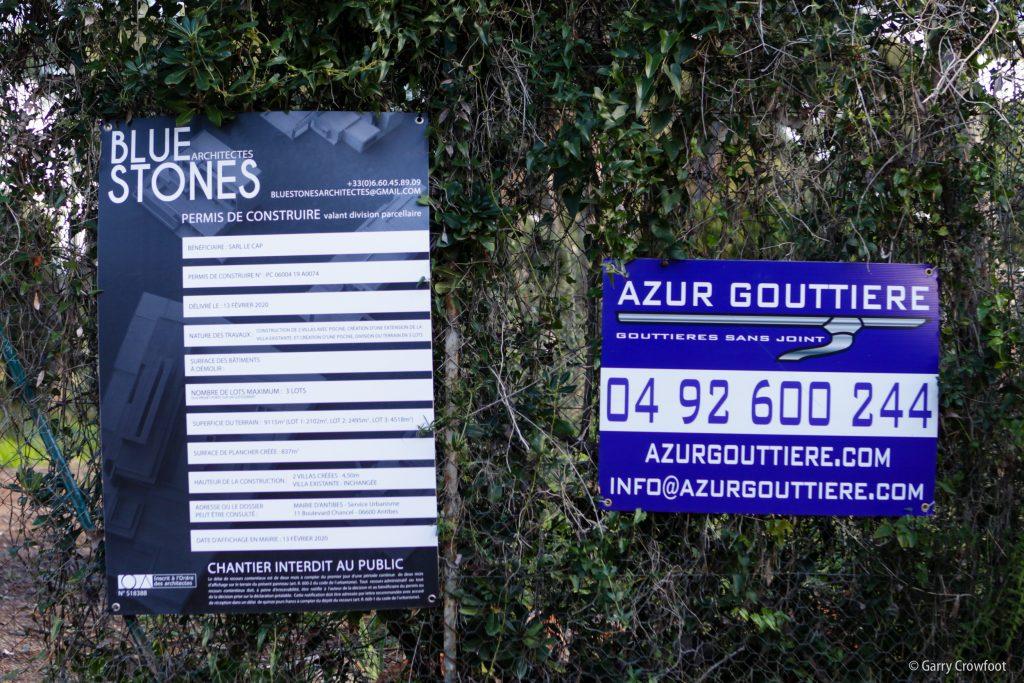 Avenue des Chênes Verts Cap Antibes permis construire