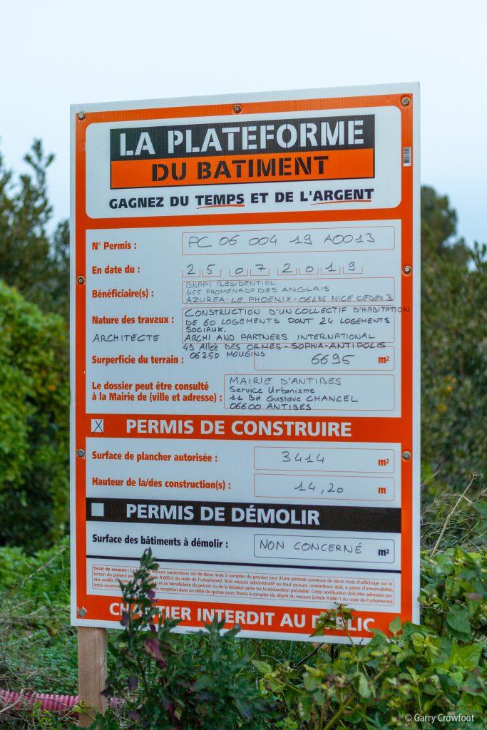 Plateau Fleuri Antibes permis