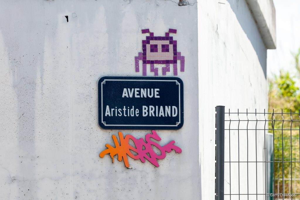 Space Invaders Aristide Briand Antibes 2021