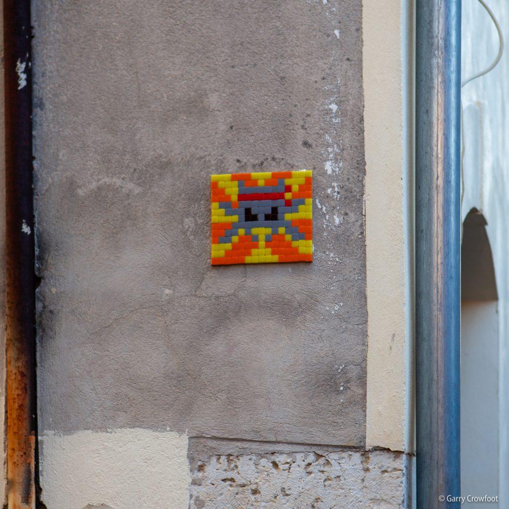 Space Invader rue Fersen Antibes 2021