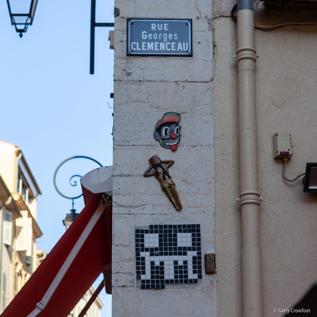 Space Invader rue Clémenceau Antibes 2021